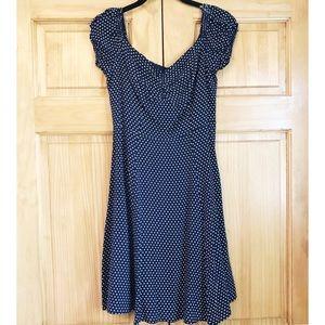 🆕 Nordstrom Blue Polka Dot Dress